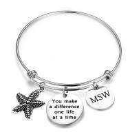 ENSIANTH Social Worker Gifts MSW Graduation Bracelet You Make A Difference Jewelry Starfish Bracelet