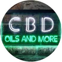 ADVPRO CBD Open Wall Décor Dual Color LED Neon Sign White & Green 16 x 12 Inches st6s43-i1091-wg
