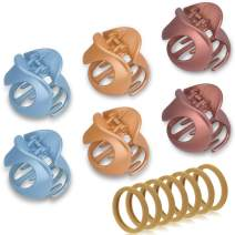 Hair Claw Clips, IKOCO Medium Jaw Clips Stylish Non Slip Claw Hair Clips For Women Girls for Thin Fine Hair,6Pcs