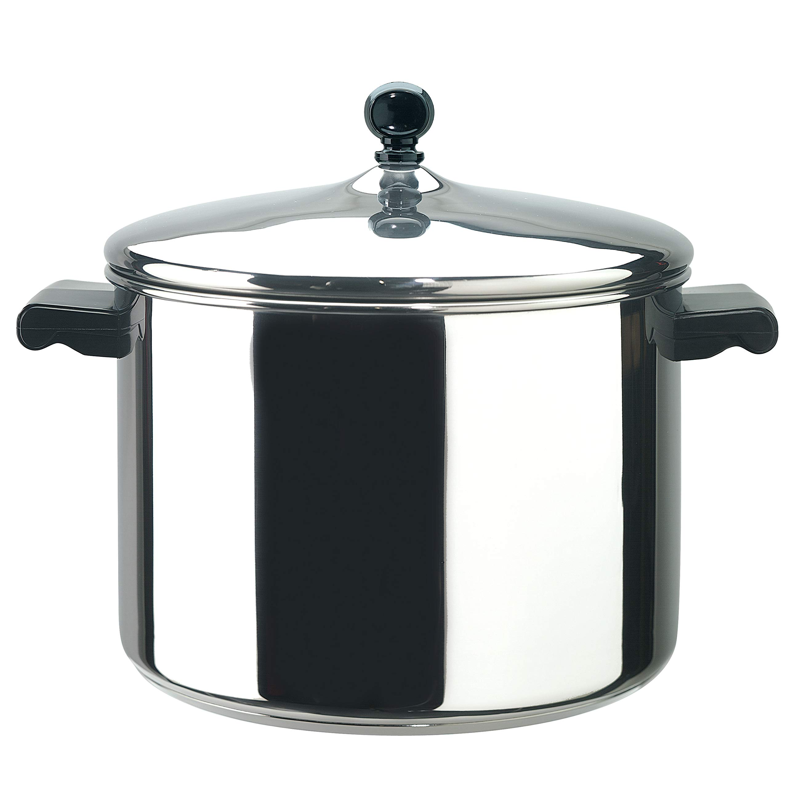 Farberware 50006 Classic Stainless Steel 8-Quart Stockpot with Lid, Stainless Steel Pot with Lid, Silver