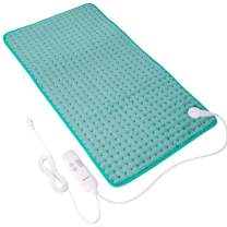 """Heating Pads for Back Pain, 18""""x33"""" Large Electric Heating Pads with Auto Shut Off, 6 Temperature Settings, Super-Soft, Fast Heating for Neck Back Shoulder Relief and Cramps"""