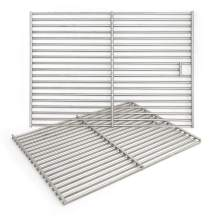 """Hongso 17 3/8"""" Solid 304 Cooking Grill Grid Grate for Home Depot Nexgrill 720-0830H, Charbroil 466446015, 463241113, 463446017,466446015,466446115, Master Forge 1010037 Gas Grills, 2 Pack, SC1712"""