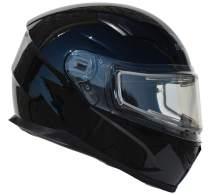 Vega Helmets Ultra Electric Snow Unisex-Adult Full Face Snowmobile Helmet with Heated Shield (Gloss Black, X-Small)