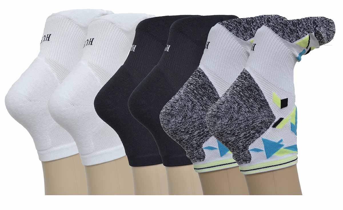 Hue Women's Air Cushion No Show 3D Sole Socks - 3 Pack