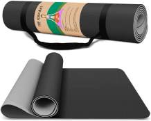 "Vegou Yoga Mat Exercise Fitness Mat - High Density 6mm Nonslip Workout Mat for Yoga, Pilates & Floor Workouts, Sweat Proof 72""L x 24""W"