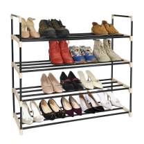 ERONE Shoe Rack Metal Shoe Tower Durable and Stable 4 Tier Shoe Storage Organizer 20 Pairs Unit Entryway Shoes Shelf (4 Tier)