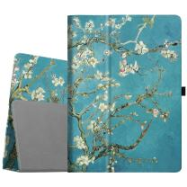 Fintie Folio Case for iPad Pro 12.9 (2nd Gen) 2017 / iPad Pro 12.9 (1st Gen) 2015 - [Corner Protection] Premium PU Leather Smart Stand Protective Cover with Auto Sleep/Wake (Blossom)