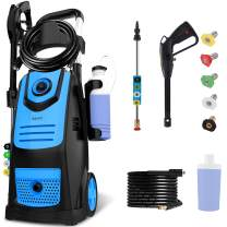 Suyncll Pressure Washer 3800PSI Max 2.8 GPM Electric Pressure Washer High Power Washer Machine Cleaner with Nozzles, Spray Gun,Detergent Tank For Cleaning Homes,Cars,Driveways,Patios(Blue)