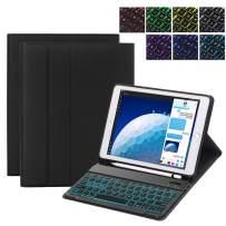 iPad 7th Generation Case with Keyboard Compatible with iPad 10.2, iPad Air 3, iPad Pro 10.5 - Backlit, Removable, Wireless, Smart Keyboard Folio for Apple iPad - iPad 10.2 Keyboard (Black)