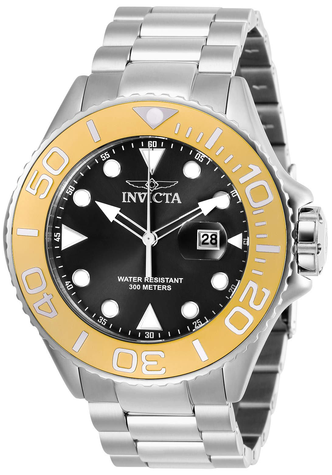 Invicta Men's Pro Diver Quartz Diving Watch with Stainless-Steel Strap, Silver, 24 (Model: 28767)