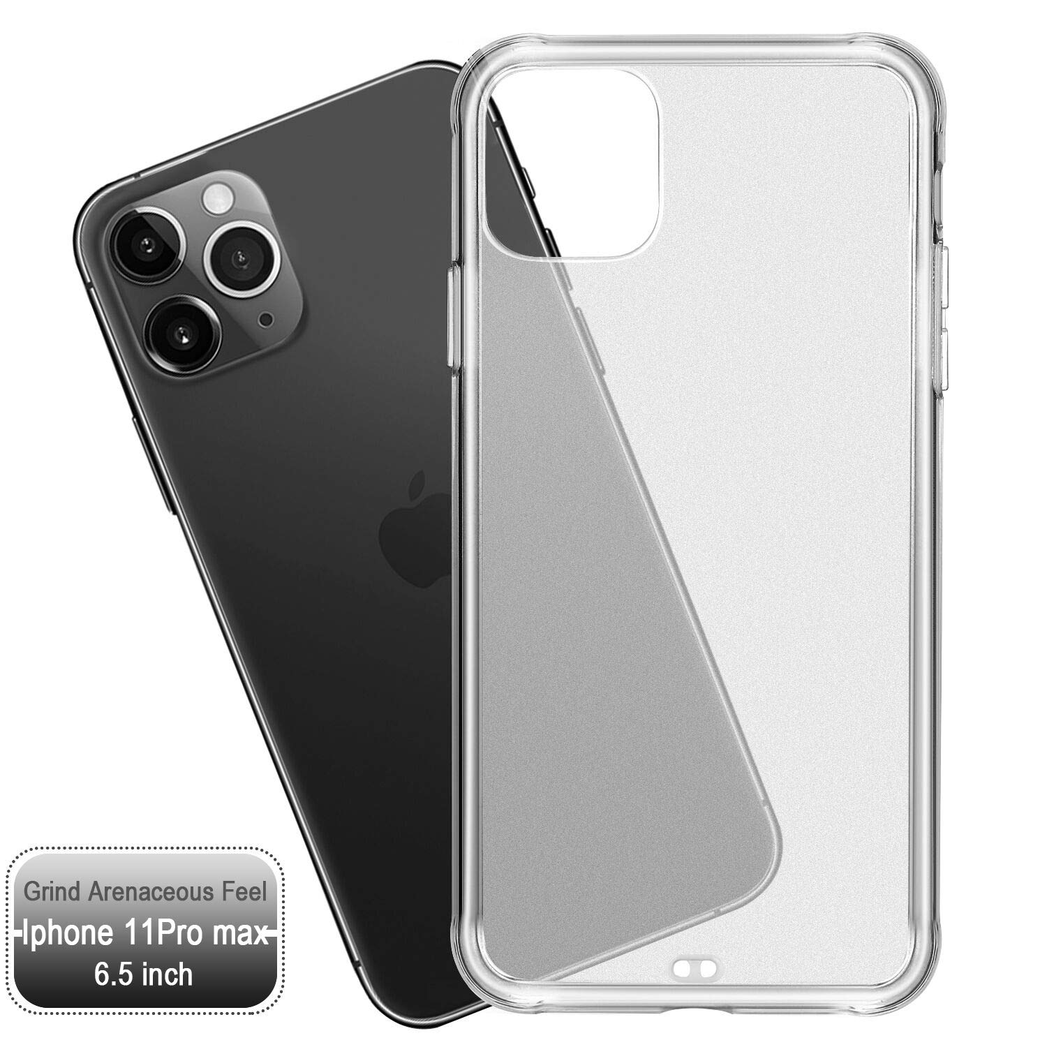 ORIbox Case for iPhone 11 pro max, Translucent Matte case with Soft Edges, Shockproof and Anti-Drop Protection Case Designed for iPhone 11 pro max, Clear