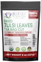 Organic Tulsi (Holy Basil) Tea Blend. 1/2 Pound. Loose Bulk Tea. Delicious Blend of Vana, Rama and Krishna Tulsi Leaves. Caffeine Free