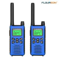 floureon 2 Pack Walkie Talkies for Kids Long Range Two Way Radio 22 Channel 3000M (MAX 5000M) USB Cable Charging Walkie Talkies for Outdoor Adventures Camping Hiking
