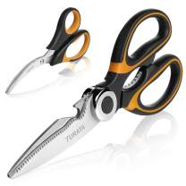 TURATA Kitchen Scissors Set Poultry Shears Seafood Lobster Scissors Heavy Duty Crab Scissors Cooking Utility Scissors Culinary Scissors Multifunctional Shears for Meat and Seafood
