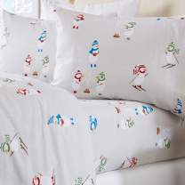 Home Fashion Designs Stratton Collection Extra Soft Printed 100% Turkish Cotton Flannel Sheet Set. Warm, Cozy, Lightweight, Luxury Winter Bed Sheets. (Twin, Snowman)