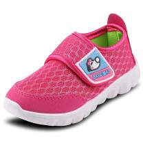XIPAI Toddler Kid's Cute Casual Lightweight Walking Athletic Shoes Boys and Girls Mesh Strap Sneakers