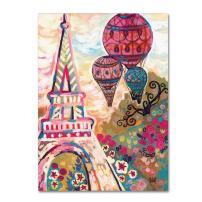 Ballons Sur Paris by Natasha Wescoat, 24x32-Inch Canvas Wall Art