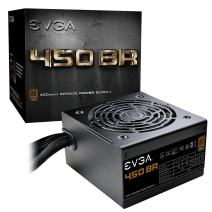 EVGA 100-BR-0450-K1 450 BR, 80+ BRONZE 450W, 3 Year Warranty, Power Supply