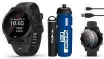 Garmin Forerunner 945 (Black) Runner's Bundle   +Garmin Premium Water Bottle, HD Screen Protectors (x4) & PlayBetter Portable Charger   Spotify/Music, Advanced Analytics, Maps   GPS Running Watch
