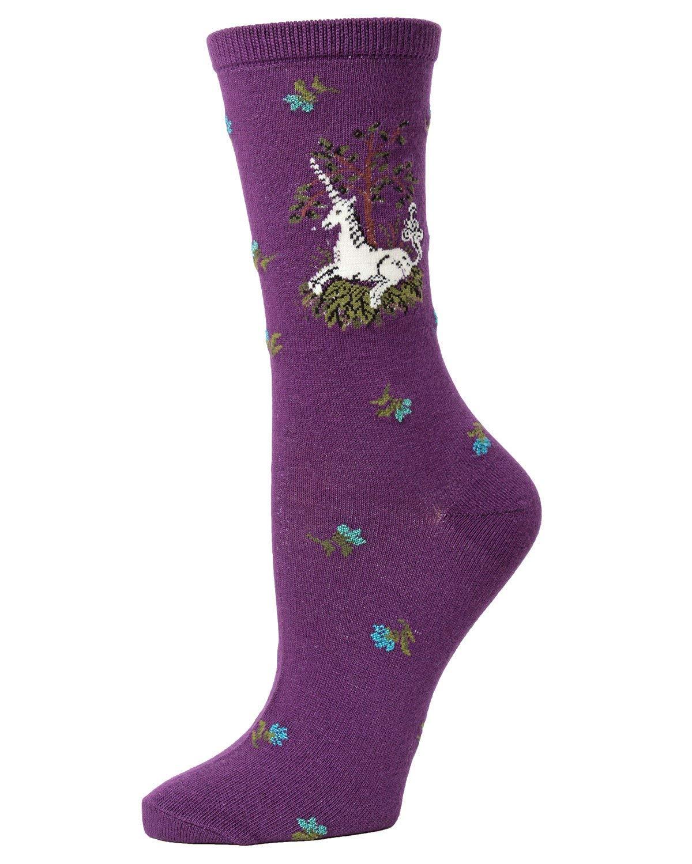 MeMoi Unicorn Bamboo Crew Socks | Fun Novelty Socks