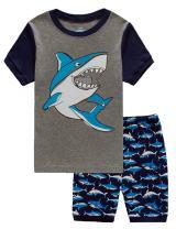 EULLA Toddler Clothes Boys Cotton Outfits Dinosaur Shirt+Short