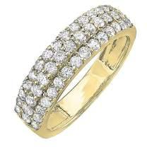 1.00 Carat (ctw) 14K Gold Round Diamond Ladies Anniversary Wedding Band Ring 1 CT