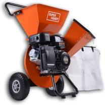 """SuperHandy Wood Chipper Shredder Mulcher Ultra Duty 7HP Gas 3 in 1 Multi-Function 3"""" Inch Max Wood Capacity EPA/CARB Certified for Fire Prevention/Building Firebreaks (Amazon Exclusive only for USA)"""