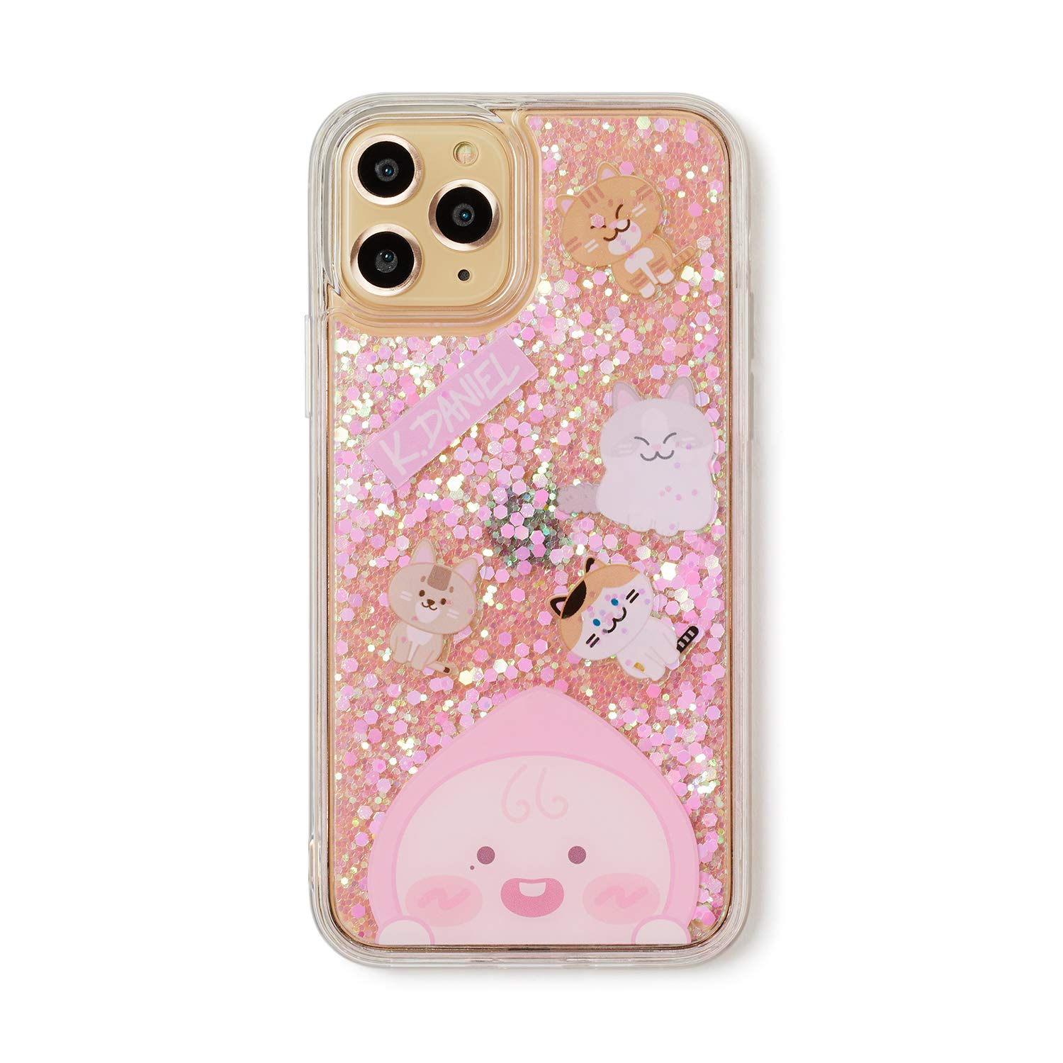 KAKAO FRIENDS Official- Apeach KangDaniel Edition Glitter Cell Phone Case, Compatible with iPhone, Galaxy (iPhone 11 Pro)
