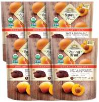 ORGANIC Turkish Dried Apricots - Sunny Fruit - (6 Bags) - (5) 1.76oz Portion Packs per Bag | Purely Apricots - NO Added Sugars, Sulfurs or Preservatives | NON-GMO, VEGAN, HALAL & KOSHER