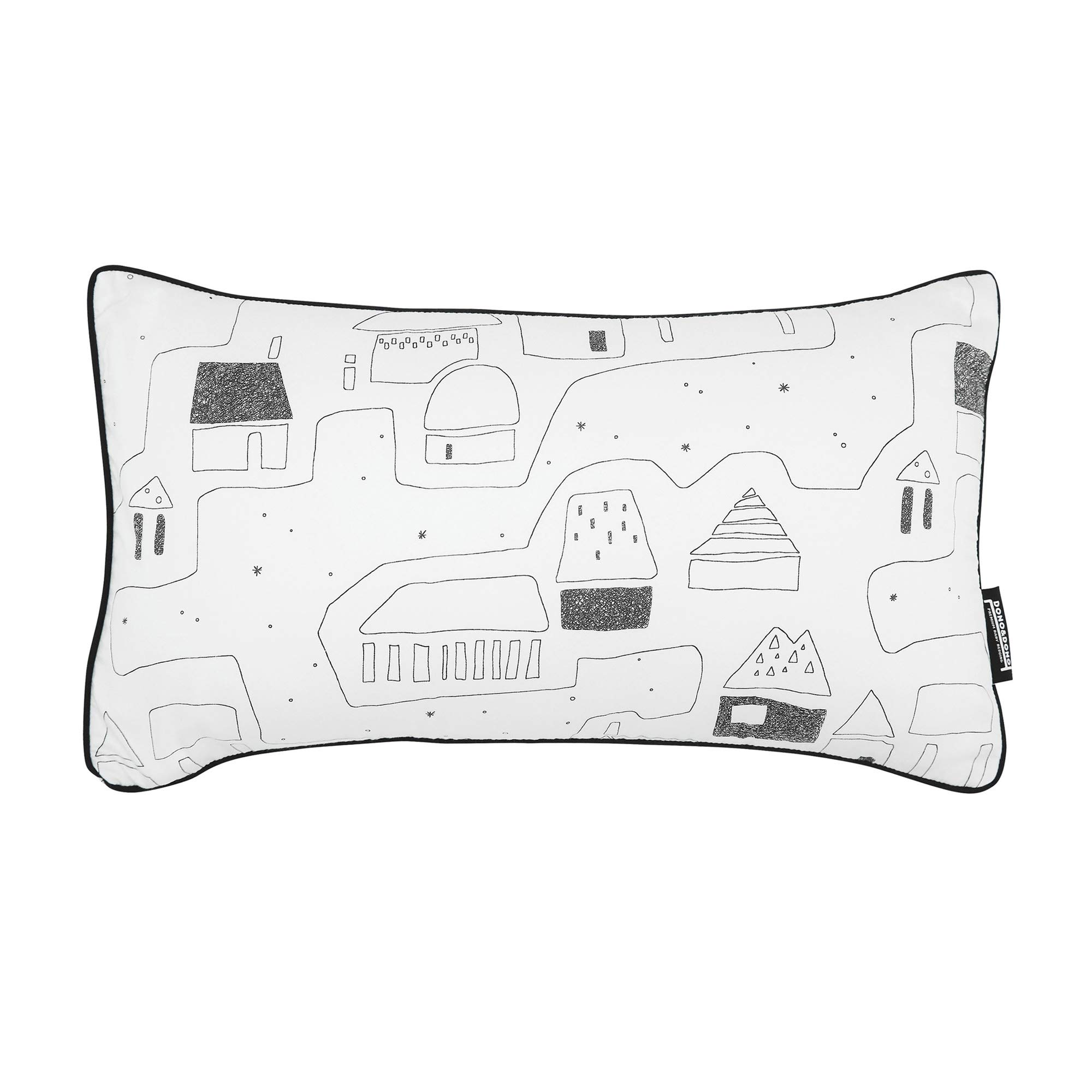 Dono&Dono Airflow Pillow and Pillowcase for Toddlers and Kids, Micromodal Moisture Wicking. (Petit Village)