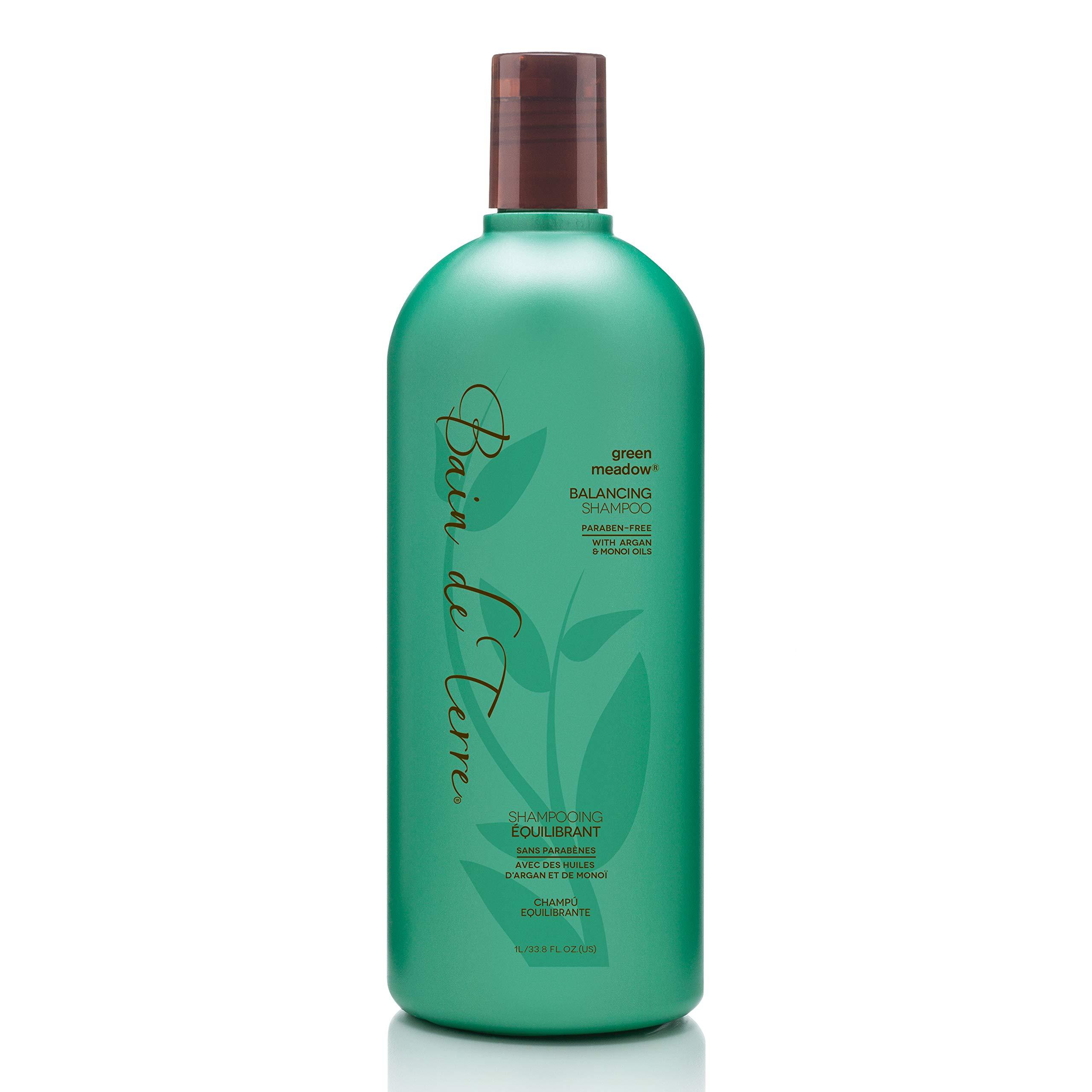 Bain de Terre Green Meadow Balancing Shampoo, with Argan and Monoi Oil, Paraben-Free, 33.8-Ounce