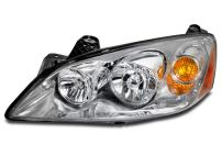 HEADLIGHTSDEPOT Halogen Headlight Compatible With Pontiac G6 2005-2010 Includes Left Driver Side Headlamp