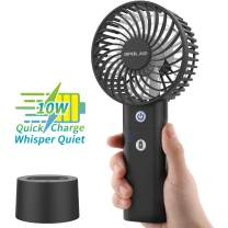 OPOLAR Battery Operated Handheld Personal Fan with Desk Stand, 10W Quick Charge Small Portable Fan with 5000mAh Battery, 5-18H Work Time, Strong Airflow,3 Speed Quiet Fan for Travel
