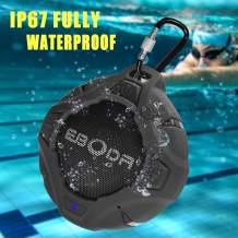 EBODA Shower Speaker, Waterproof Bluetooth Speakers with Crisp Sound, IP67 Waterproof Portable Outdoor Speaker with Enhanced Bass, Built in Mic, Hands-Free, for Shower, Pool, Beach, Cycling-Blue