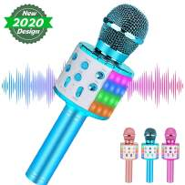 Wireless Kids Karaoke Microphone,Best Gifts for 7 8 9 Year Old Young Girls,Hot Girl Toys Age 4-16,Top Birthday Presents for 5 6 Year Old Teens Blue