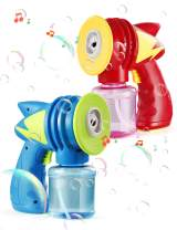 DG-Direct 2 Bubble Guns with 2 Bubble Solution Refill (10.6 oz Total) for Kids, Bubble Machine Blaster Party Supplies for Outdoor Activity, Summer Toy, Birthday Gift