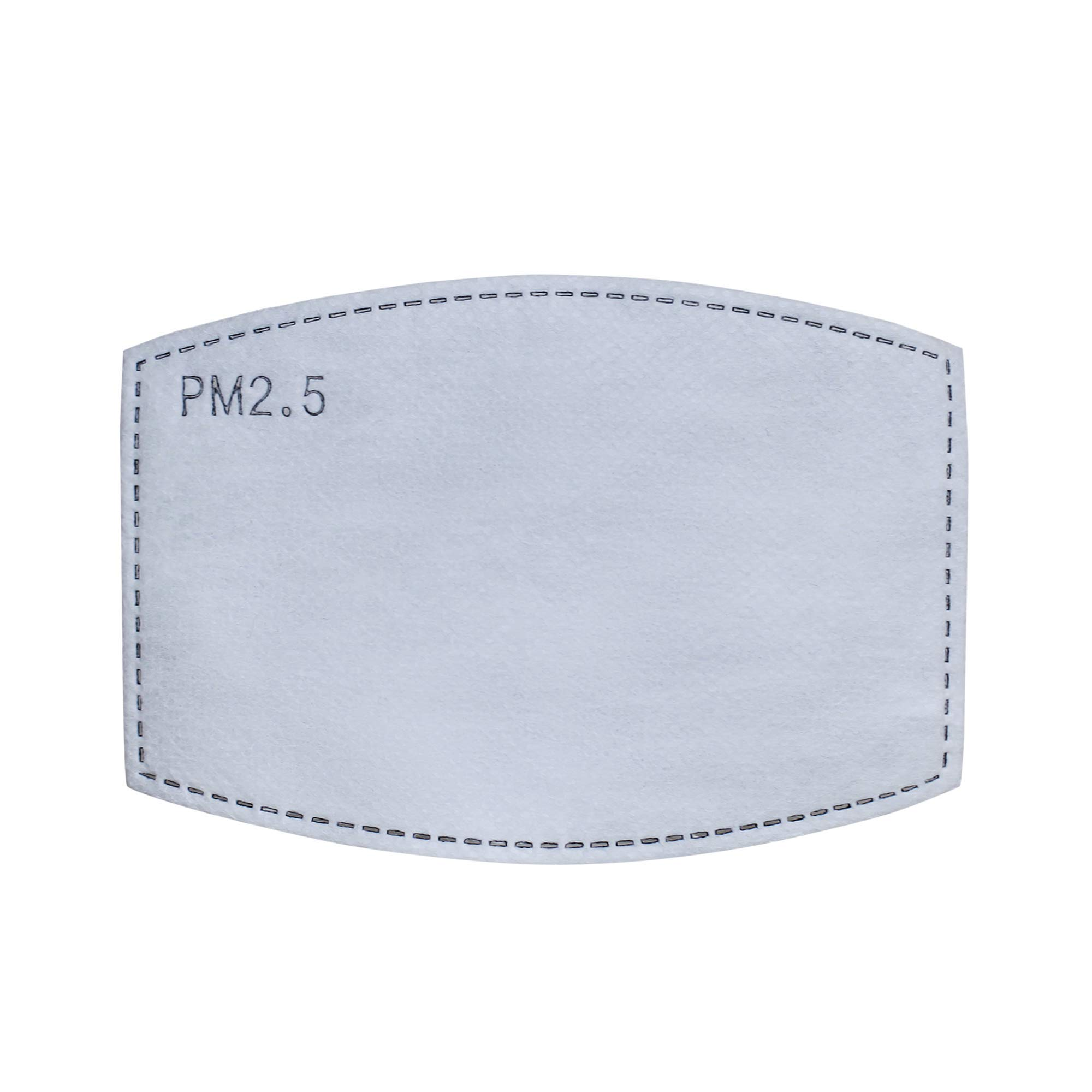 30 PM2.5 Face Mask Filters with Activated Carbon - 5 Pressed Layers Per Replacement - For Masks with Pockets - Replaceable - Disposable - PM 2.5 Filter with Activated Charcoal - Adult Size - Not Paper