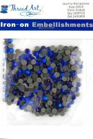 Threadart SS20 (5mm) Cobalt Hot Fix Rhinestones 2 Gross (288/pkg) Hotfix - Iron on - 32 colors 4 Sizes