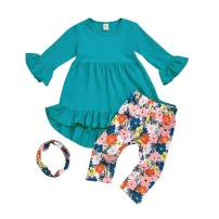 MODNTOGA Baby Thanksgiving Outfits Kids Girls My Little Turkey Print Long Sleeve Dress Tutu Skirts Thanksgiving Day Clothes