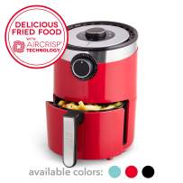 Dash DCAF250GBRD02 AirCrisp Pro Electric Air Fryer + Oven Cooker with Temperature Control, Non Stick Fry Basket, Recipe Guide + Auto Shut Off Feature, 2qt, Red