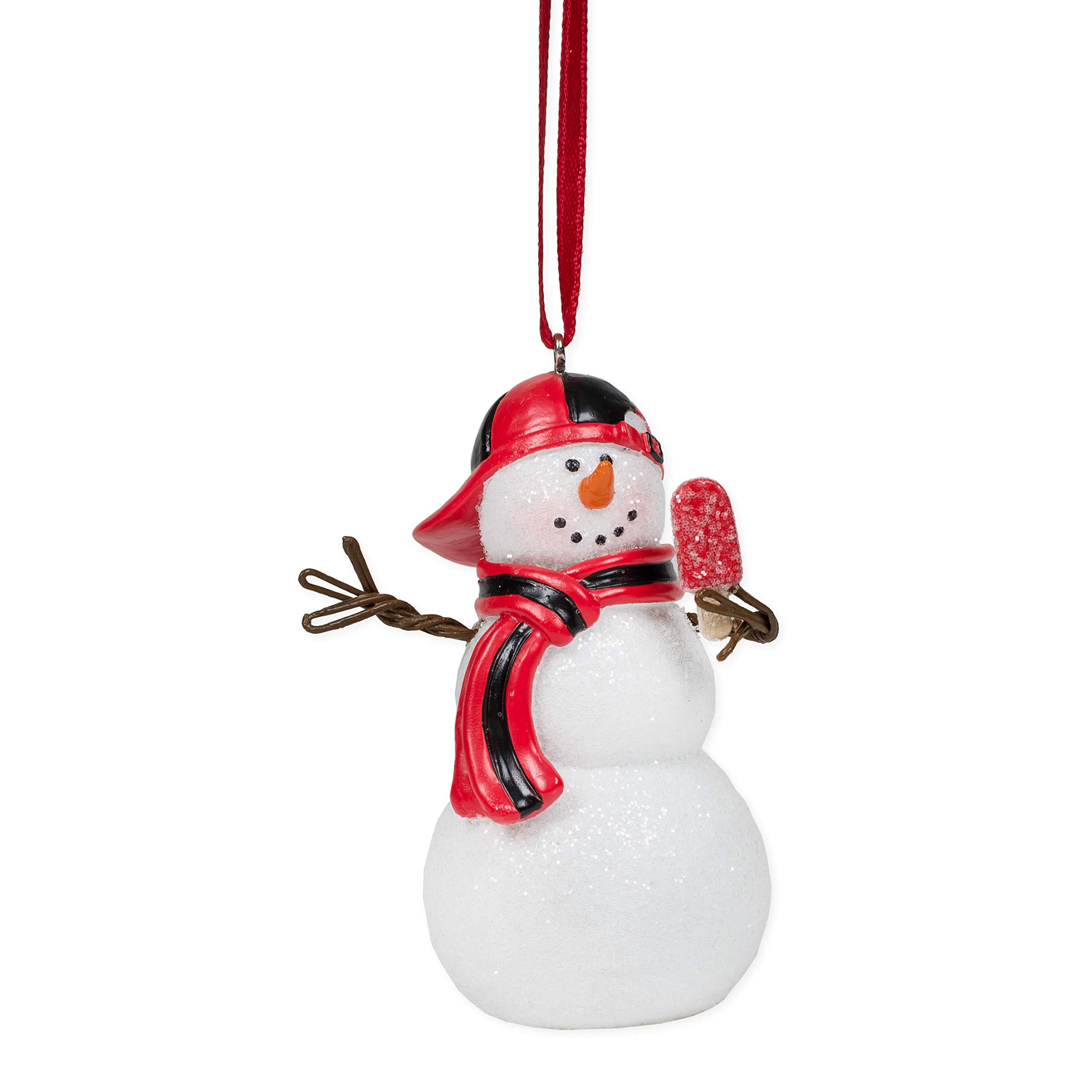 Elanze Designs Snowboy White and Red 3 inch Resin Stone Christmas Hanging Figurine Ornament