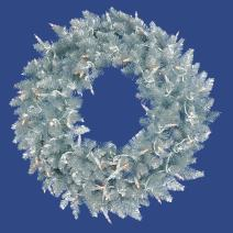 "Vickerman K166930 Fir Wreath with 260 PVC Tips, 30"", Silver"