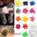 Brostown 100Pcs Soft Pet Cat Nail Caps Claws Control Paws of 5 Kinds 5Pcs Adhesive Glue + 5pcs Applicator with Instructions