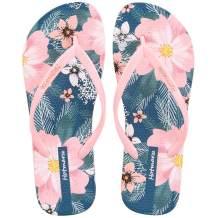 Hotmarzz Women's Flowers Fruits Pattern Summer Beach Colorful Slippers Tongs Sandals Flat Slides