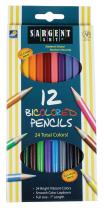 Sargent Art 22-7202 12-Count Bi-Colored Pencils Set