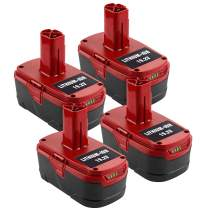 4Pack 6.0Ah 19.2V Replace for Craftsman Battery, Battery for Craftsman C3 XCP Craftsman 130279005 1323903 130211004 11375 11045 315.115410 315.11485