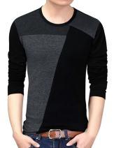 Yong Horse Men's Casual Short/Long Sleeve Crewneck Cotton T-Shirts Slim Fit