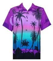 Hawaiian Shirts for Men Tropical Palm Trees Printed Aloha Holiday Beach wear Short Sleeve