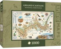 MasterPieces Xplorer Maps Jigsaw Puzzle, Grand Canyon, National Park, 100% Made in USA, 1000 Pieces