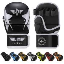 Elite Sports MMA Grappling Training Sparring Mitts Gloves, Best MMA Gloves for Grappling Martial Arts